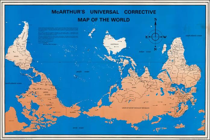 McArthurs Universal Corrective Map of the World